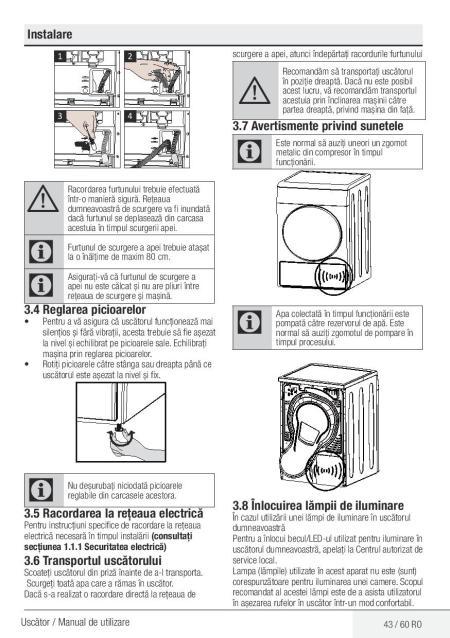 Manual de utilizare uscator rufe BEKO DPY8506GXB1